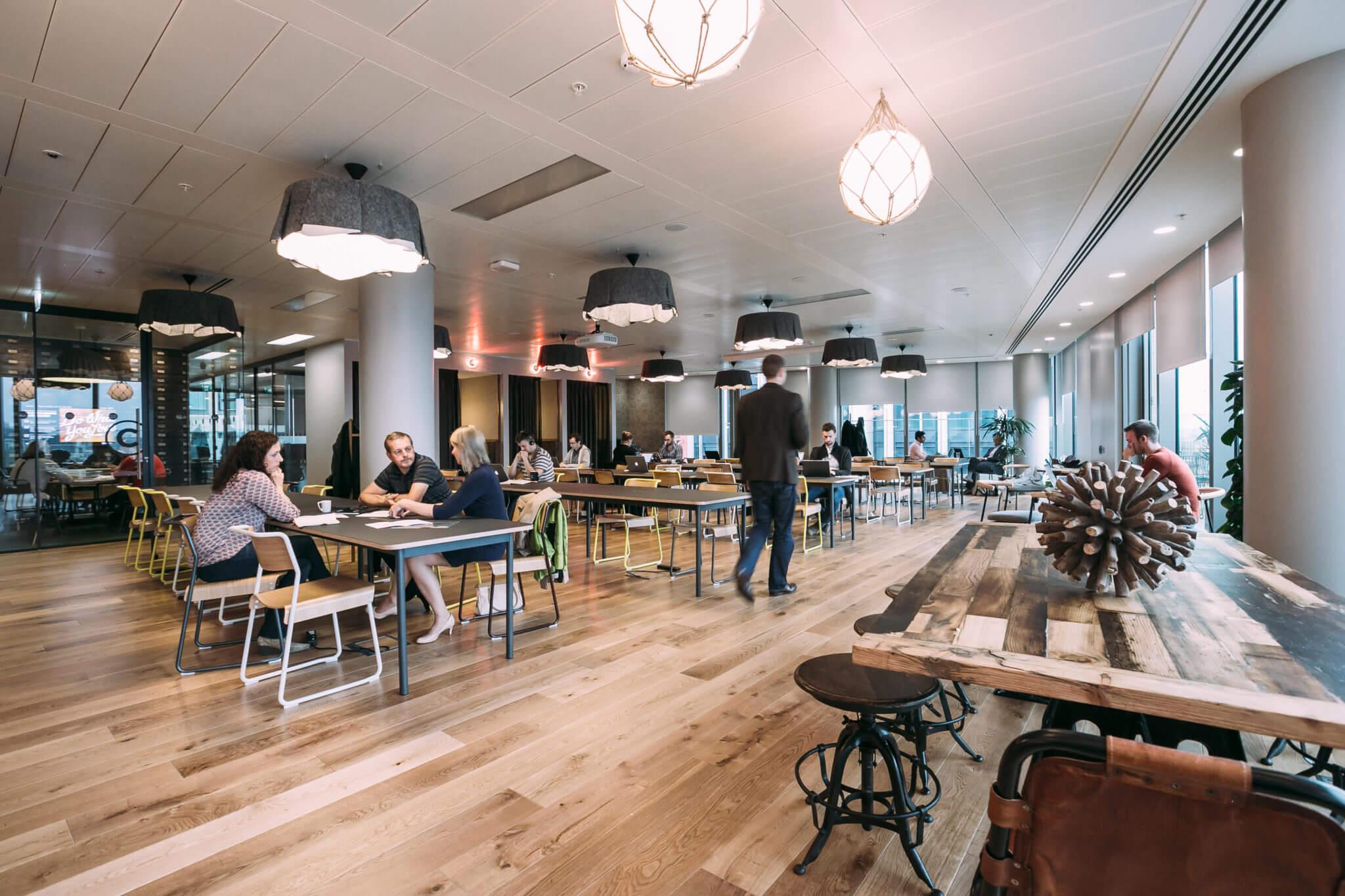 We Work hot desking London south bank