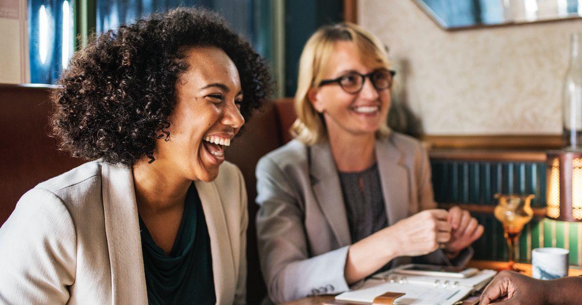 Successful women enjoying a business meeting