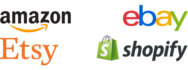 Amazon, Etsy, eBay and Shopify